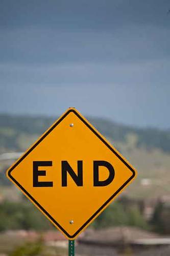 END ROAD SIGN | End road sign | Chip Allen | Flickr At The Roads End