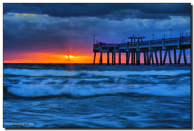 Fire and ice dania beach fishing pier hollywood fl i for Hollywood florida fishing