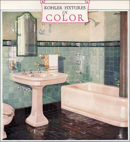 1928 kohler color bathroom fixtures flickr photo sharing for Bathroom ideas 1920s home