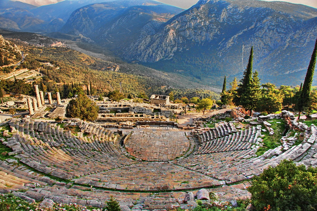 Ancient Delphi  Delphi was the site of the Delphic oracle ...