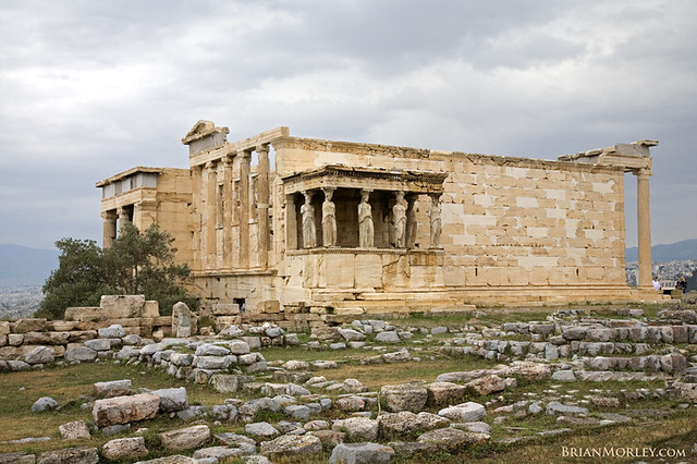Erechtheion (former Old Temple of Athena), Acropolis, Athe ...