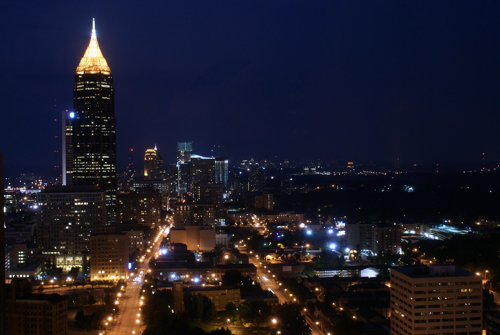 Atlanta Georgia At Night 388 Downtown Atlanta At