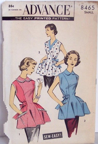 Vintage Advance Pattern 8465 Cobbler Apron Pattern 50s Siz