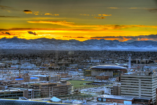 Denver sunset over the Rockies | by slack12