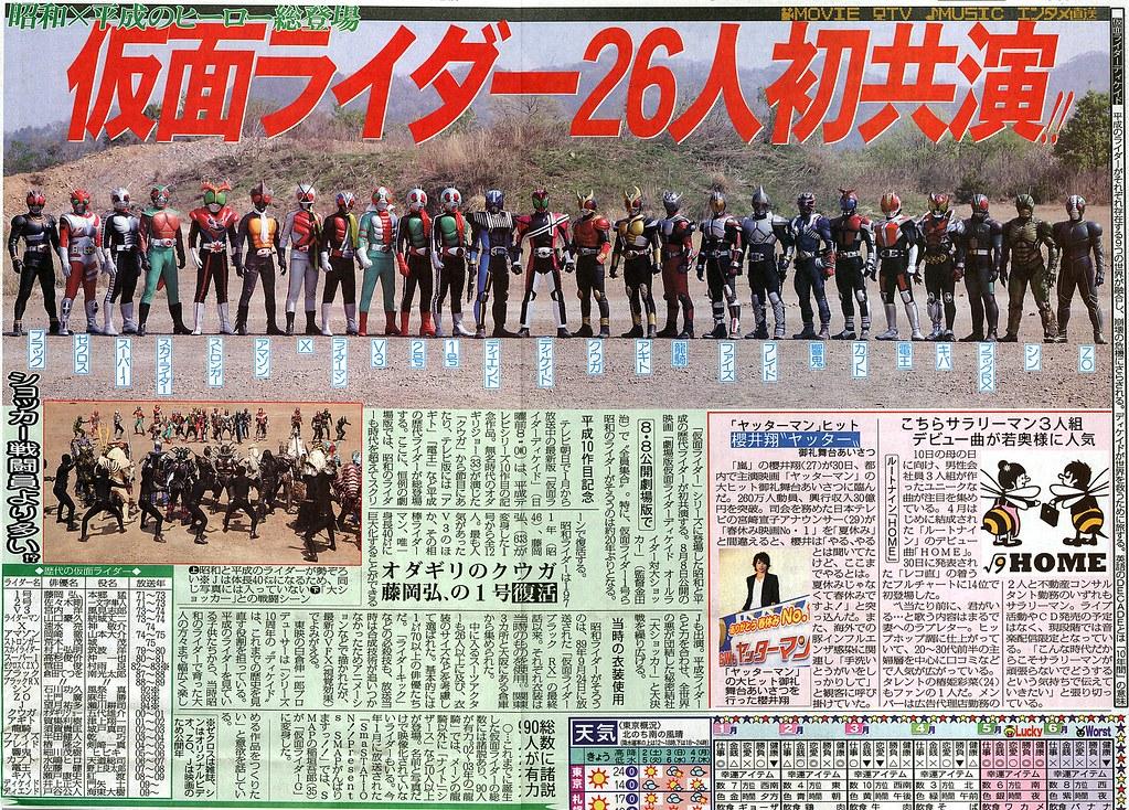 090501 - 歷代26位假面騎士大集合、《劇場版 假面騎士DECADE All Riders v.s. Great Shocker》將於8/8上映!