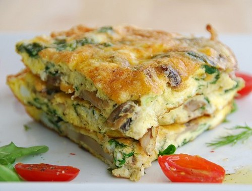 spinach and ricotta frittata 2 | by Food Blogga