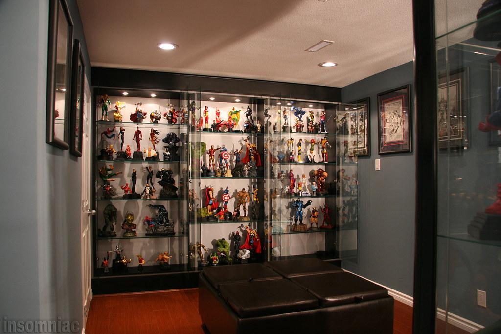 Ghost Rider Statue Glass Cabinet