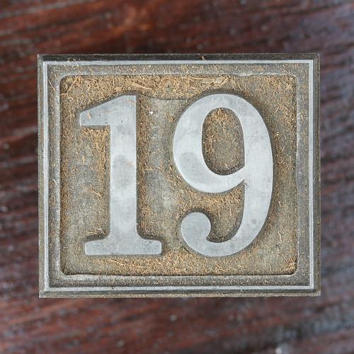 calendar number 19