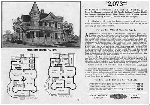 1909 sears queen anne modern home 303 sears started for Victorian style kit homes