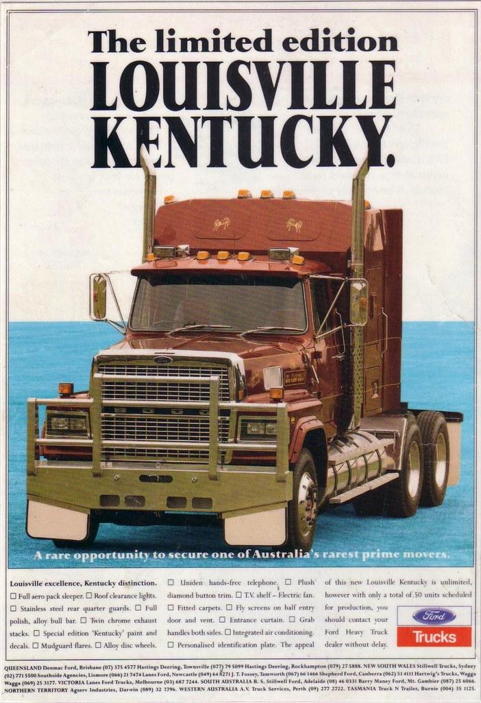 New Ford Truck >> 1992 Ford LTL 9000 Louisville Kentucky Truck Ad | Ford LTL ...