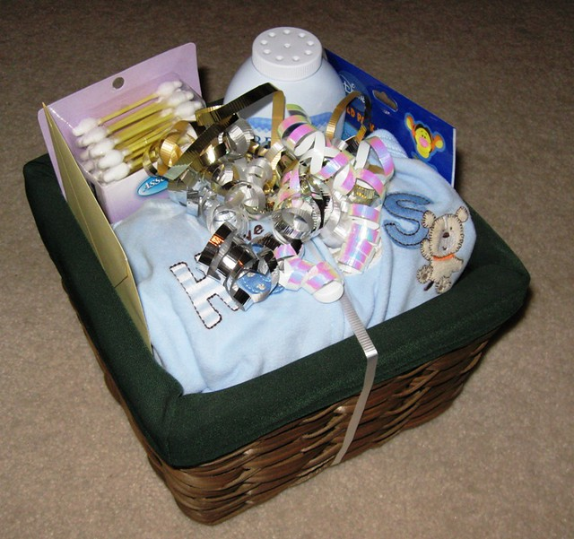 Baby Gift Baskets How To Make : How to make a baby shower gift basket photo i took for
