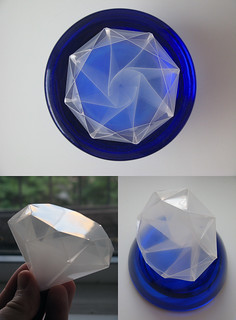 Satoshi Kamiya Diamond, polypropylene, cut and scored on a Craft ROBO | by En Why See