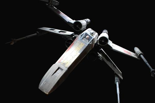Skywalker X-wing Skywalker Flying an X-wing