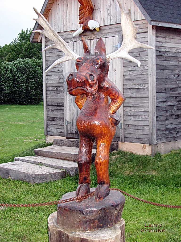 Moose chainsaw carving this that was carved by a