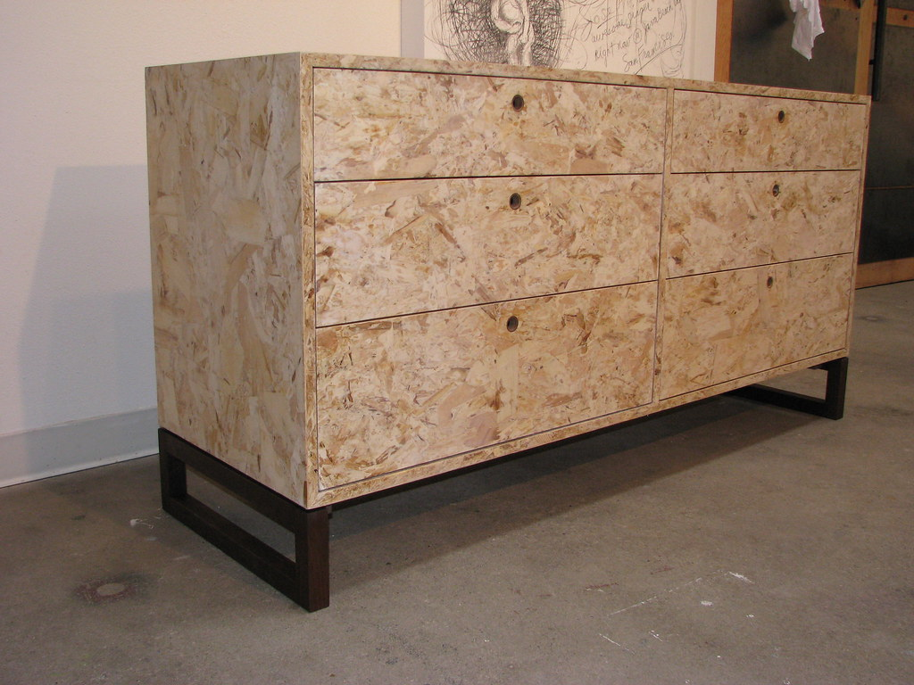 OSB dresser | Eco friendly dresser made from OSB with a waln… | Flickr