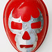 red luchador mask