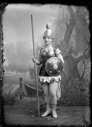 Portrait of a young woman dressed as Boadecia or Mother England | by Powerhouse Museum Collection