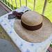 hat on balcony