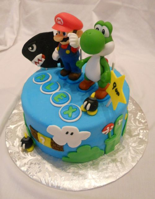 Mario Birthday Cake Toppers