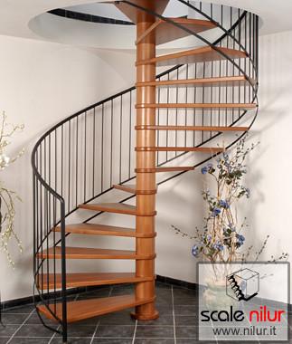 Scala a chiocciola in legno e metallo per interni mod ala for Corsi per arredatore d interni