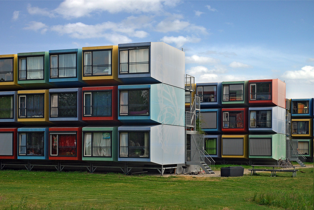 Stacking students la capanna container student housing in flickr - Container van homes ...