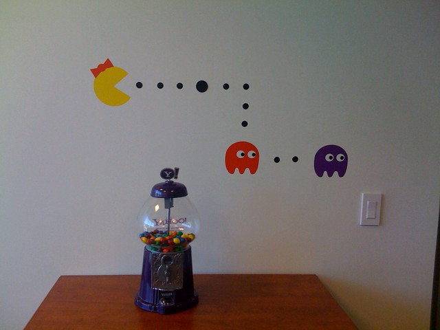 New Ms Pacman Decal On The Wall In My Office Ms Pacman