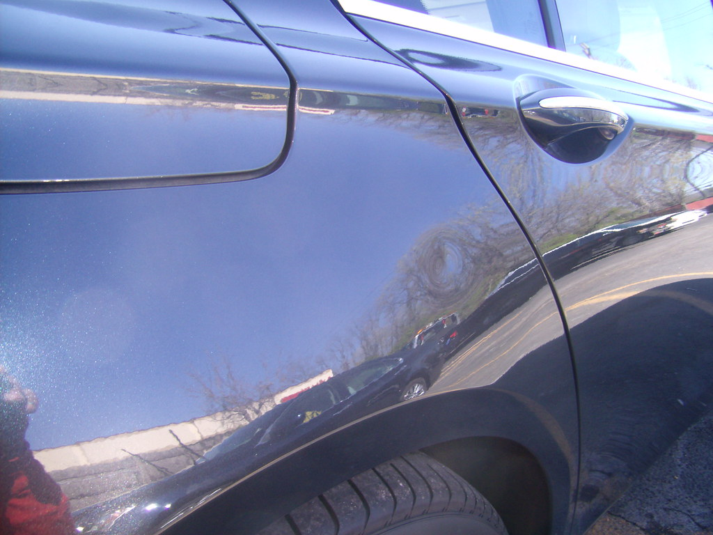 2009 Bmw 750 Li Before Repair Deep Ding Visible On The