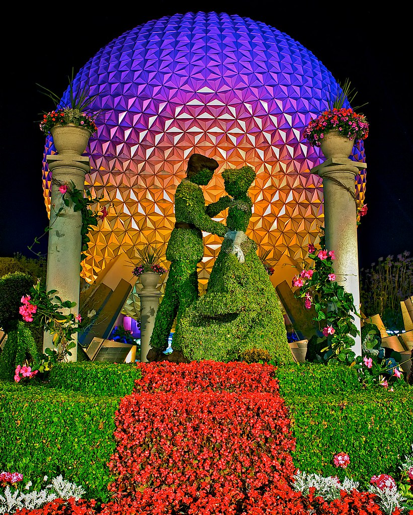 Epcot Flower And Garden Festival Epcot Spaceship Earth F Flickr