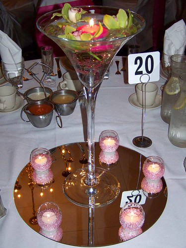 Martini glass centerpiece flickr photo sharing