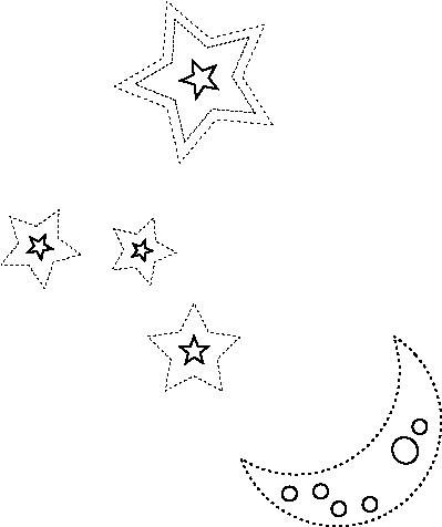 Moon and Stars Drawing Tumblr