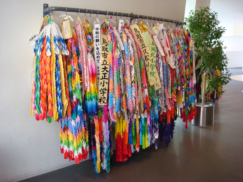 Origami cranes at The Nagasaki Atomic Bomb Museum | There ... - photo#40