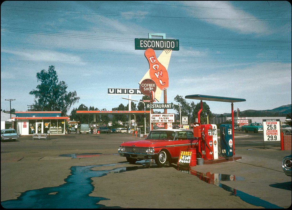 Ford Of Escondido >> Escondido Bowl and a Red Ford Galaxie - 1966   A fire-engine…   Flickr