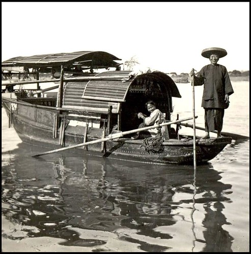 THE SMILING SAMPAN GIRLS -- A Friendly Scene of River Life in OLD CHINA | Flickr - Photo Sharing!
