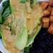 Ginger Almond Miso Sauce over Baby Bok Choy