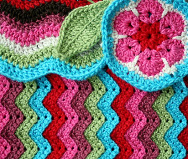crochet ripples, African flower, leaf Little experiments ...
