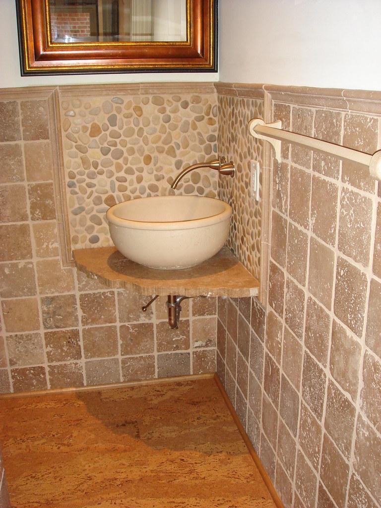 river rock sink backsplash generation tile stone flickr