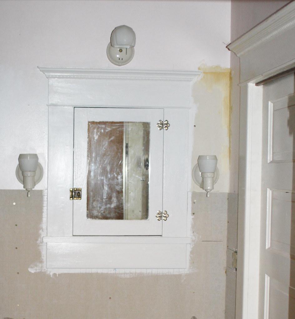 medicine cabinet with lights finally progress on the fron flickr. Black Bedroom Furniture Sets. Home Design Ideas