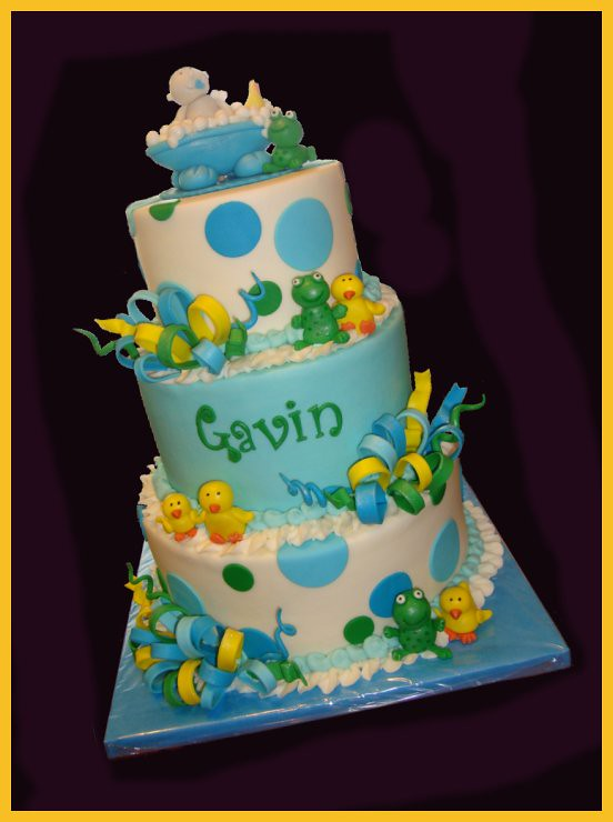 Frog Baby Shower Cake Pictures