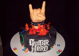 Guitar Hero cake | by layersoflove