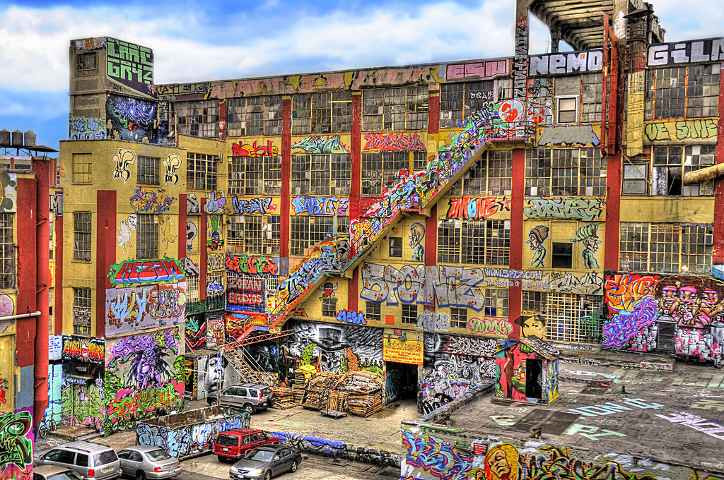5pointz  this is a factory located in queens new york