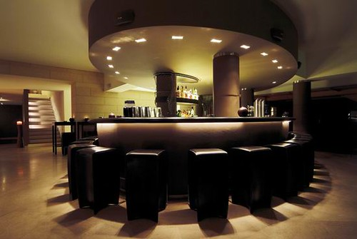 09 Hotel Madlein Bar Table Entertainment Interior Design