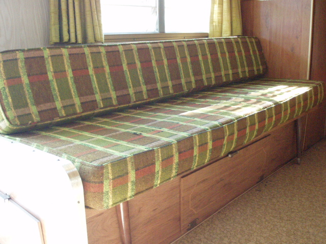 Fold out sofa bed with danish style legs and under storage for Sofa bed with storage underneath