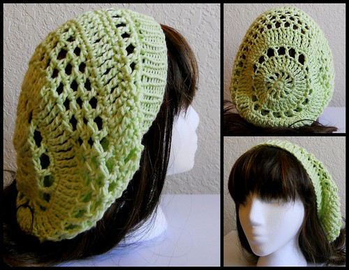 Green Crochet Hat w/ Knit Band | by StrangeKnits