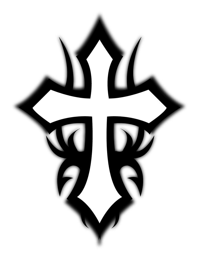 It is an image of Juicy Tribal Cross Drawing