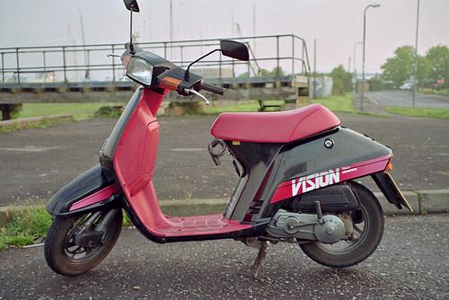 1986 Honda Vision 50 Pentax Espio 928 Compact Kodak 200