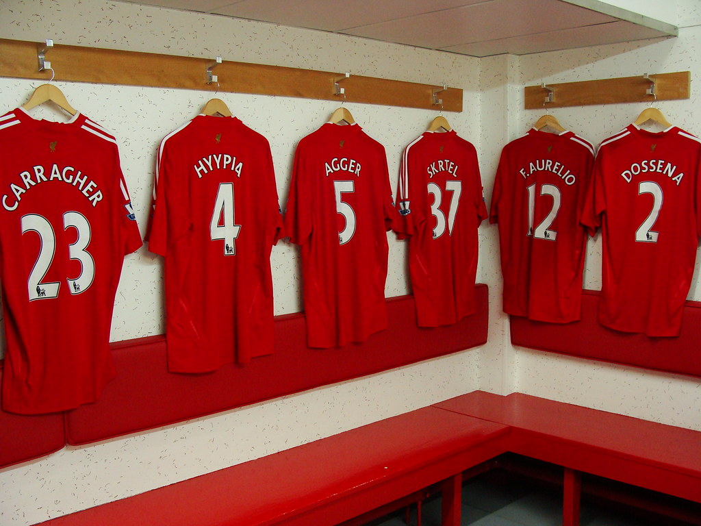 The Anfield Dressing Room Home Of Liverpool Fc And The S