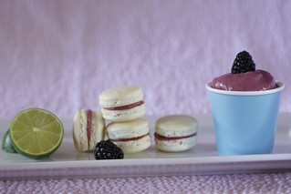 macarons with blackberry-lime curd | by Madison Bistro