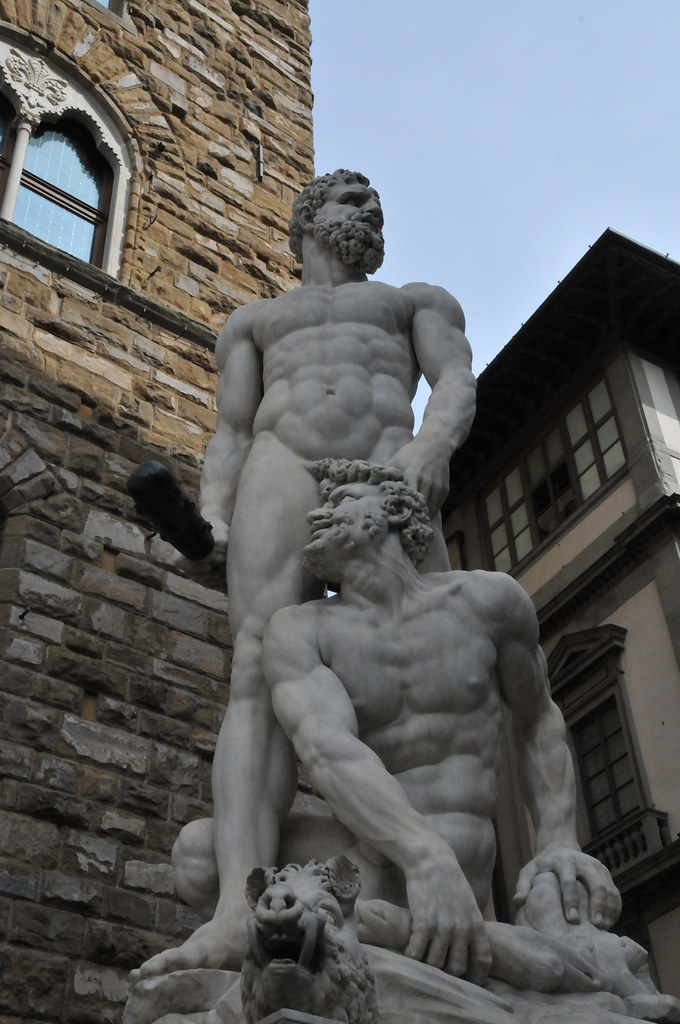 florence palazzo vecchio hercules and cacus statues flickr