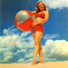 Girl with Beach Ball, 1940s