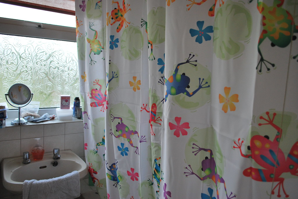 Psychodelic Frog Shower Curtain | I Replaced The Kitty Cat Su2026 | Flickr